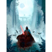 Star Wars: Return of the Jedi 'Vengeful Pursuit' Lithograph Print by Jeremy Saliba (18 x 24 Inch) - Zavvi UK