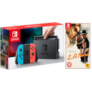 Nintendo Switch Console With Neon Red/Neon Blue Joy-Con & LA Noire Remastered