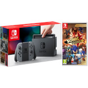 Nintendo Switch Console with Grey Joy-Con & Sonic Forces
