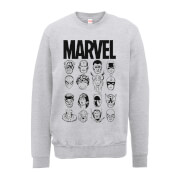 Marvel Multi Heads Männer Sweatshirt - Grau