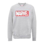 Marvel Main Logo Men's Grey Sweatshirt