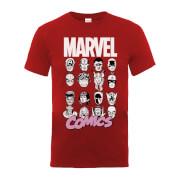 Marvel Comics Multi-Faces Men's Red T-Shirt