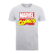 Marvel Comics Main Logo Men's Grey T-Shirt