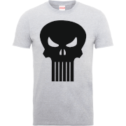 Marvel The Punisher Skull Logo Men's Grey T-Shirt