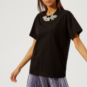 Christopher Kane Women's Crystal T-Shirt - Black - L - Black