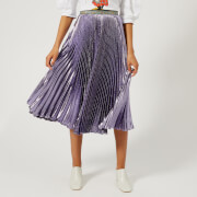 Christopher Kane Women's Lame Pleated Skirt - Purple - IT 42/UK 10 - Purple