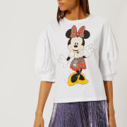 Christopher Kane Women's Minnie Puff Sleeve T-Shirt - White - L - White