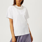 Christopher Kane Women's Ruffle Trim T-Shirt - White - S - White
