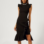 Christopher Kane Women's Bodycon Frill Dress - Black - IT 40/UK 8 - Black