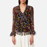 See By Chloé Women's Floral Nights Blouse - Black Multi - EU 36/UK 8 - Black