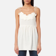 See By Chloé Women's Embellished Cheesecloth Top - White Powder - EU 40/UK 12 - White