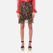 See By Chloé Women's Floral Nights Silk Skirt - Black Multi - EU 36 - Black