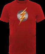 Justice League The Flash Emblem Men's T-Shirt - Red