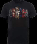 Justice League Team Men's T-Shirt - Black
