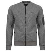 Dissident Men's Hedron Baseball Jacket - Mid Grey Marl