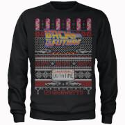 Back To The Future OUTATIME Männer Weihnachts Sweatshirt - Schwarz