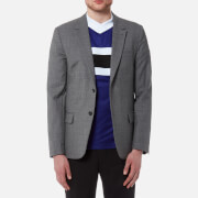 AMI Men's Two Button Jacket - Heather Grey - EU 46/S - Grey