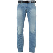 Smith & Jones Men's Borromini Belted Jeans - Light Wash