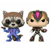 Pack 2 Figuras Pop! Vinyl Exclusivas Rocket vs. Mega Man - Marvel vs Capcom