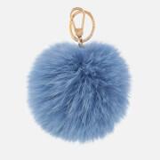 Furla Women's Bubble Pom Pom Keyring - Blue