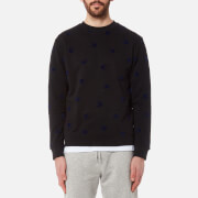 McQ Alexander McQueen Men's All Over Swallow Sweatshirt - Black/Carbon Navy