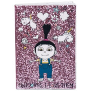 Despicable Me 3 A5 Glitter Notebook