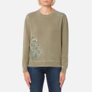 Barbour Heritage Women's Fern Crew Neck Sweatshirt - Bleached Olive - UK 10 - Green