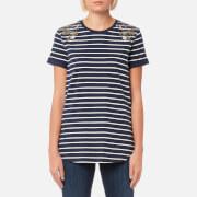 Barbour Heritage Women's Wildflower T-Shirt - Dress Blue - UK 12 - Blue