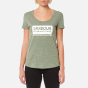 Barbour International Women's Track T-Shirt - Khaki Marl