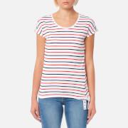Barbour Women's Pembrey Top - White/Navy/Signal Orange