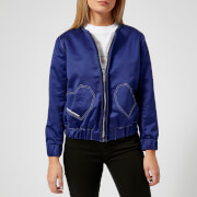 Maison Kitsuné Women's Heart Teddy Jacket - Royal Blue - L - Blue