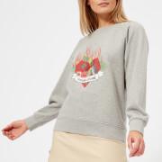Maison Kitsuné Women's Burning Heart Sweatshirt - Grey - L - Grey