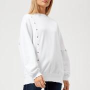 Maison Kitsuné Women's Asymmetric Sweatshirt - White - L - White