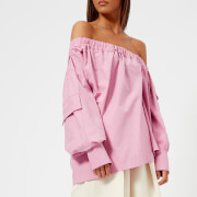 MSGM Women's Off-the-Shoulder Oversized Top - Pink - IT 38/UK 6 - Pink