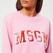 MSGM Women's Logo Sweatshirt - Pink - M - Pink