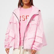 MSGM Women's Waterproof Coat with Hood - Pink - IT 40/UK 8 - Pink
