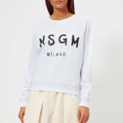 MSGM Women's Graffiti Logo Sweatshirt - White - M - White