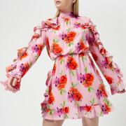 MSGM Women's Frill Detail Mini Dress - Pink - IT 40/UK 8 - Pink