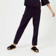 Ganni Women's Clark Trousers - Total Eclipse - EU 34/UK 6 - Blue