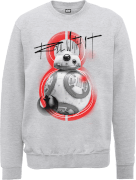 Star Wars Die letzten Jedi (The Last Jedi) BB8 Roll With IT Grau Pullover