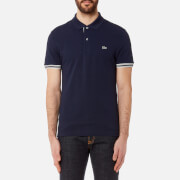 Lacoste Men's Sleeve Tip Polo Shirt - Navy Blue