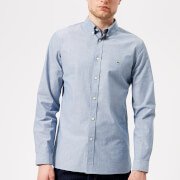 Lacoste Men's Long Sleeved Casual Shirt - Marino