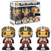 Star Wars Pilots Wedge, Biggs & Porkins EXC Pop! Vinyl Figure 3-Pack