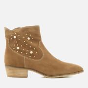 Rebecca Minkoff Women's Stella Pearl Suede Western Boots - Cognac - UK 3 - Tan