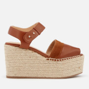 Castañer Women's Enea Leather Wedged Sandals - Cuero - UK 3 - Tan
