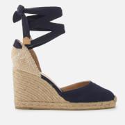 Castañer Women's Carina Wedged Sandals - Jeans - UK 3 - Blue