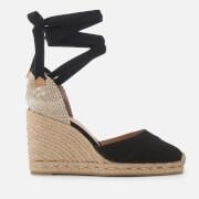 Castañer Women's Carina Wedged Sandals - Negro - UK 3 - Black