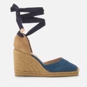 Castañer Women's Carina Wedged Sandals - Azul Marino - UK 3 - Blue