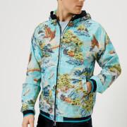 Polo Ralph Lauren Men's Lined Windbreaker Jacket - Landscape Hawaiian - L - Blue