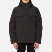 canada goose men's black label maitland parka jacket - black - s